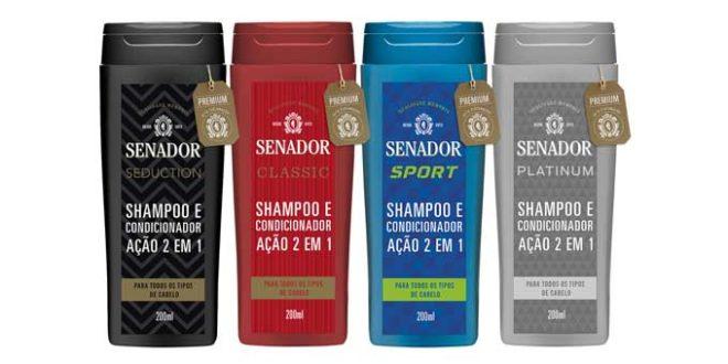 Linha de shampoos 2 em 1 Senador ganha nova fragrância