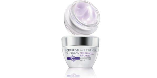 Novo sérum facial Renew Clinical Lift & Firmeza para tratamento da pele do rosto, colo e pescoço